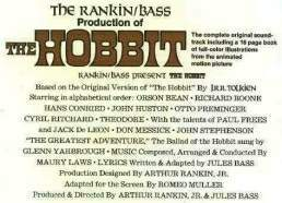 Fotos de EL HOBBIT de Rankin/Bass
